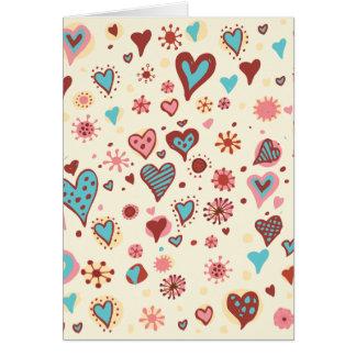 Valentinklotter i ljust - rosor hälsningskort