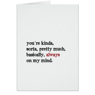 Valentinkort. Du är på mitt varar besvärad alltid. Hälsningskort