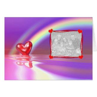 Valentinreflexioner (fotomallen) hälsningskort