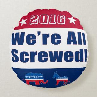 Valet 2016 | rolig | alla skruvas vi rund kudde