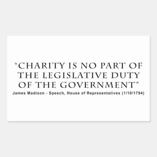 Välgörenhet är ingen lagstiftnings- arbetsuppgift rektangelformat klistermärke