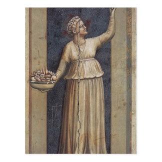 Välgörenhet vid Giotto Vykort
