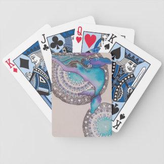 Valgrå färg spelkort