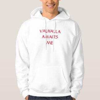 Valhalla väntar på mig sweatshirt med luva