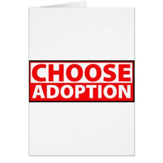 Välj adoption hälsningskort