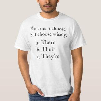 Välj där deras dem är klokt grammatik tröja