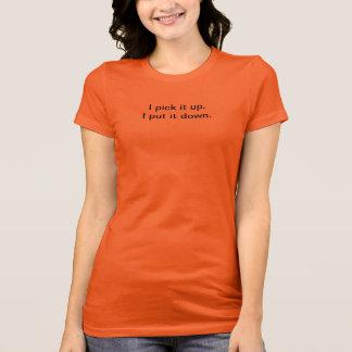 Välj det sätter upp det besegrar orange Racerback Tee Shirt