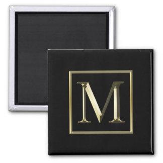 Välj din egna skina guld- Monogrammagnet Magnet