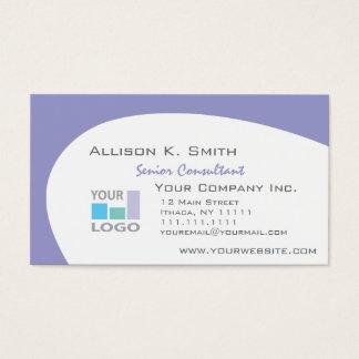 Välj din färg, tillfoga din affärslogotyp visitkort