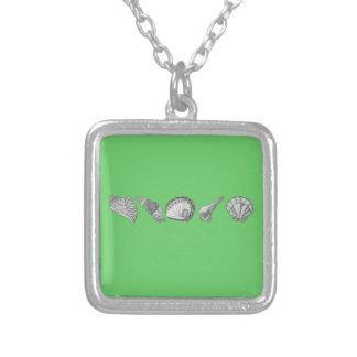 Välj din färgsnäckskalkonst silverpläterat halsband