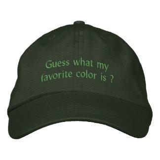 Välj din favorit- färghatt broderad keps