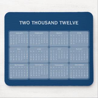 Välj din grundläggande kalender Mousepad för färg  Musmattor