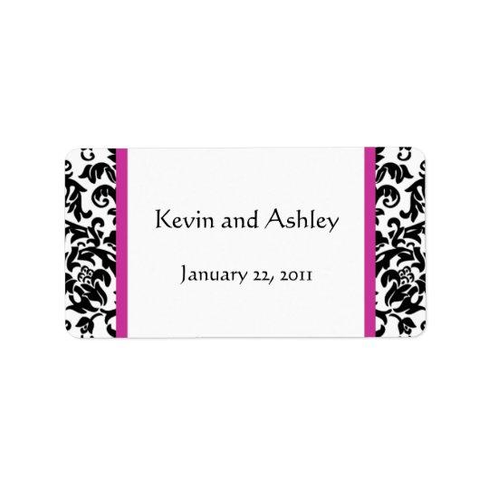 Välj dina egna etiketter för färgbröllopfavören adressetikett