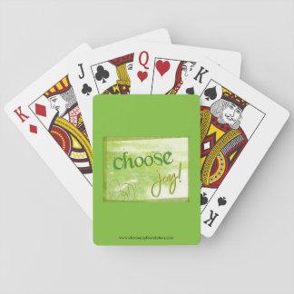 Välj glädje som leker kort spelkort