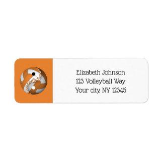 välj någon adress för färgyinyang volleyboll returadress etikett