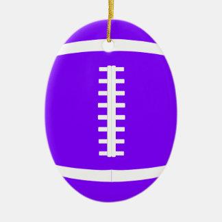 Välj någon för amerikanfotboll för färg ovalformad julgransprydnad i keramik