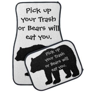 Välj upp din sopor, eller ska björnar äter dig bilmatta