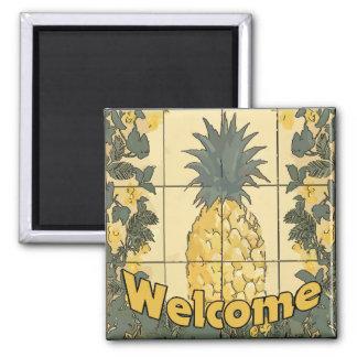 Välkommen ananas magnet