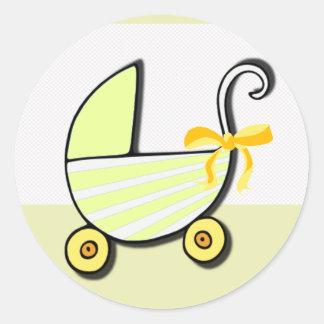 Välkommen baby eller baby shower runt klistermärke