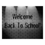 Välkommen back to school! Affischtrycket underteck Print