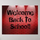 Välkommen back to school! Affischtrycket underteck Posters