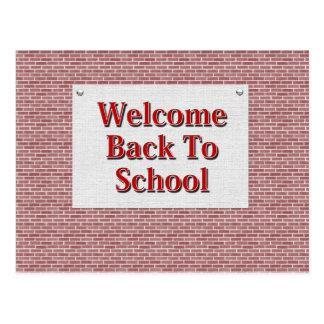 Välkommen back to school vykort