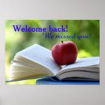 Välkommen back to schoolaffisch poster