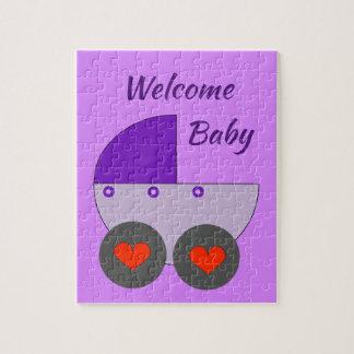 välkommen bebis pussel