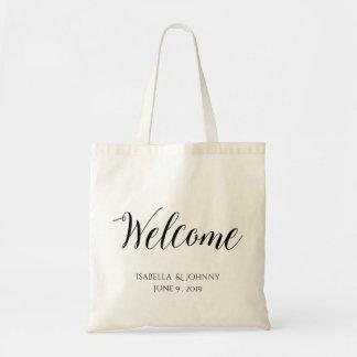 Välkommen gåva för Welcome|wedding Tygkasse