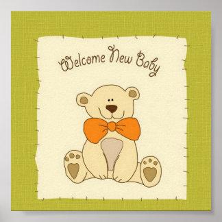 Välkommen nyfödd bebis poster