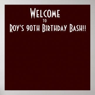 Välkomna till, Roys den 90:e födelsedagvåldsamt sl Poster