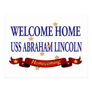 Välkomnande hem- USS Abraham Lincoln Vykort