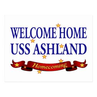 Välkomnande hem- USS Ashland Vykort