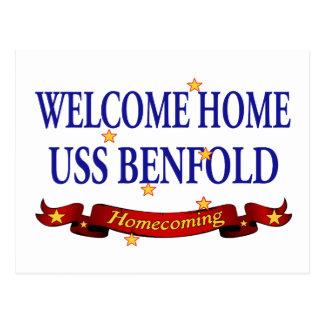Välkomnande hem- USS Benfold Vykort