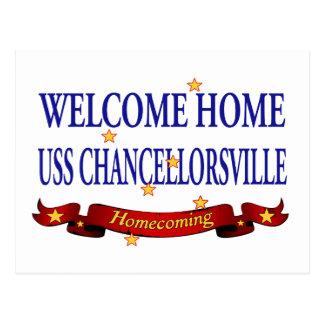Välkomnande hem- USS Chancellorsville Vykort