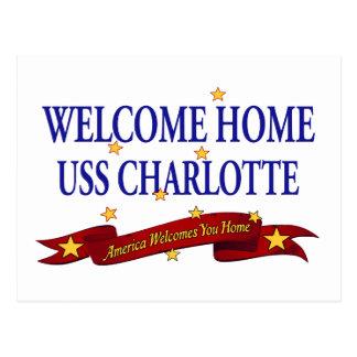 Välkomnande hem- USS Charlotte Vykort