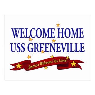 Välkomnande hem- USS Greeneville Vykort