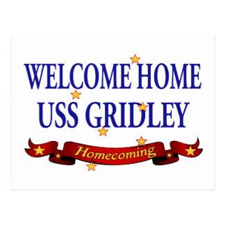 Välkomnande hem- USS Gridely Vykort