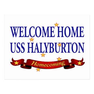 Välkomnande hem- USS Halyburton Vykort
