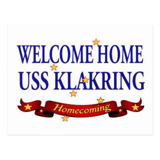 Välkomnande hem- USS Klakring Vykort