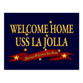 Välkomnande hem- USS La Jolla Vykort