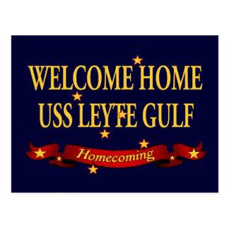 Välkomnande hem- USS Leyte Gulf Vykort