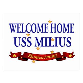 Välkomnande hem- USS Milius Vykort