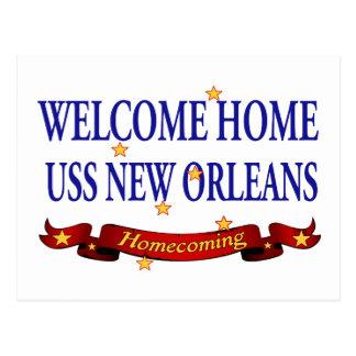Välkomnande hem- USS New Orleans Vykort