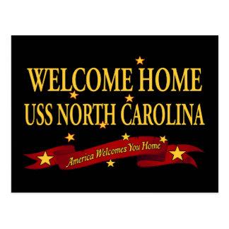 Välkomnande hem- USS North Carolina Vykort