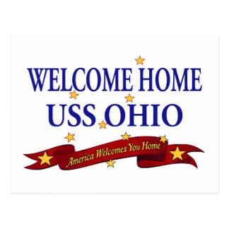 Välkomnande hem- USS Ohio Vykort