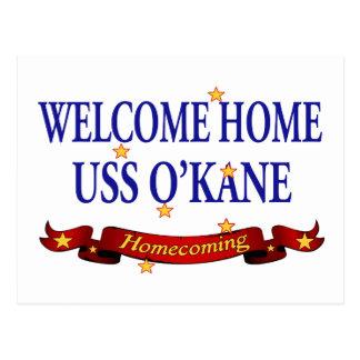 Välkomnande hem- USS O'Kane Vykort