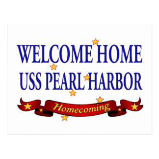Välkomnande hem- USS Pearl Harbor Vykort