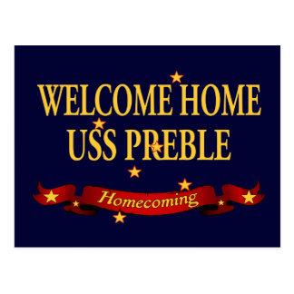 Välkomnande hem- USS Preble Vykort