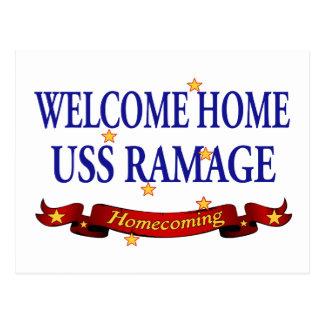 Välkomnande hem- USS Ramage Vykort